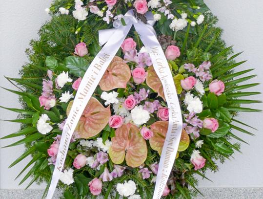 Wieńce z kwiatów żywych
